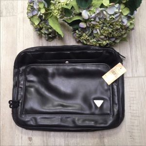 Guess Black Leather Laptop Tablet Case Soft Body